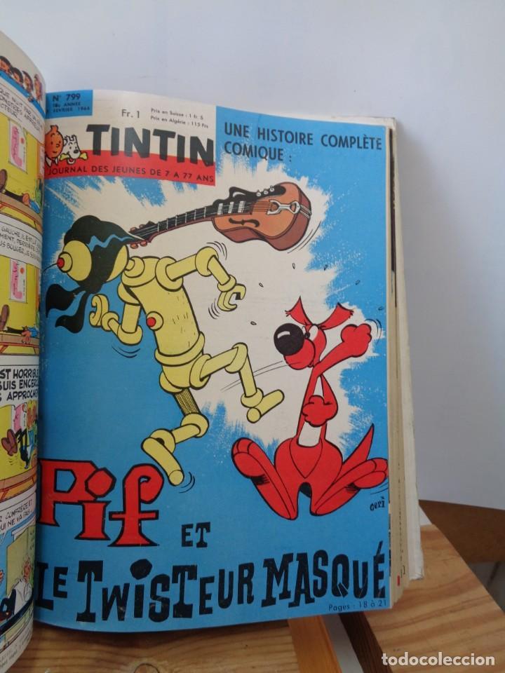 Tebeos: ¡¡ TINTIN, RECUEIL GEANT. LE JOURNAL DES JEUNES DE 7 A 77 ANS. 1963 -64. !! - Foto 15 - 238396015