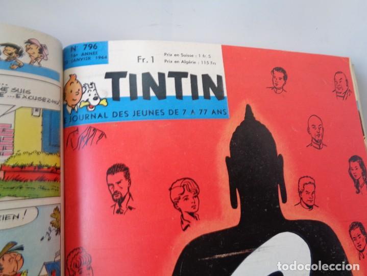 Tebeos: ¡¡ TINTIN, RECUEIL GEANT. LE JOURNAL DES JEUNES DE 7 A 77 ANS. 1963 -64. !! - Foto 18 - 238396015
