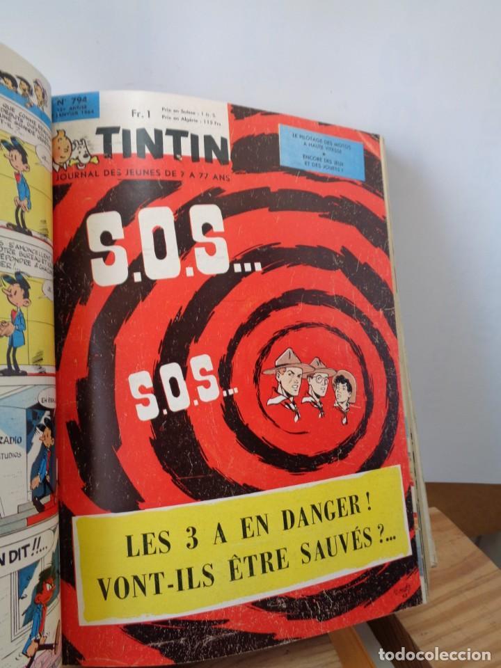 Tebeos: ¡¡ TINTIN, RECUEIL GEANT. LE JOURNAL DES JEUNES DE 7 A 77 ANS. 1963 -64. !! - Foto 21 - 238396015