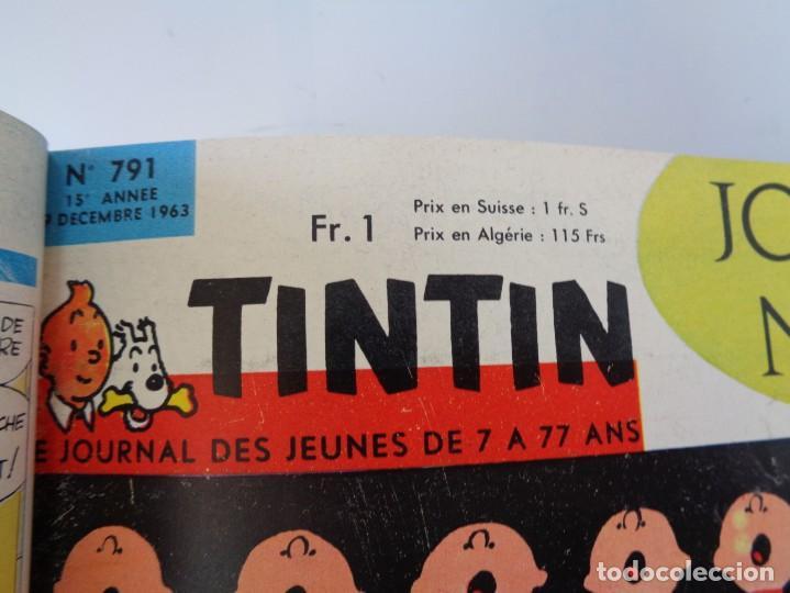 Tebeos: ¡¡ TINTIN, RECUEIL GEANT. LE JOURNAL DES JEUNES DE 7 A 77 ANS. 1963 -64. !! - Foto 32 - 238396015