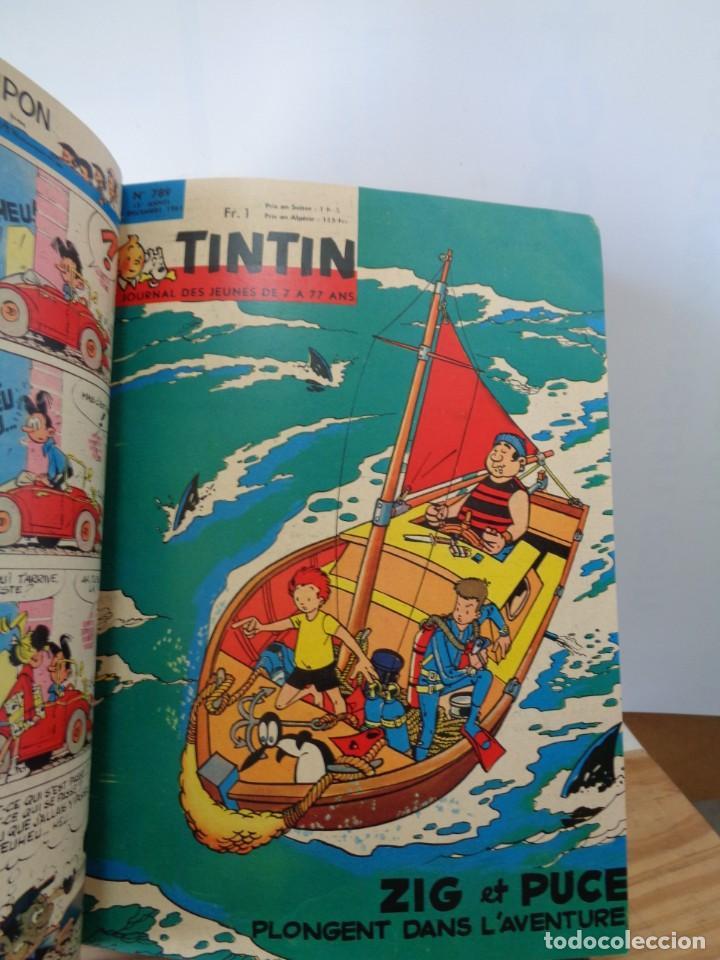 Tebeos: ¡¡ TINTIN, RECUEIL GEANT. LE JOURNAL DES JEUNES DE 7 A 77 ANS. 1963 -64. !! - Foto 36 - 238396015