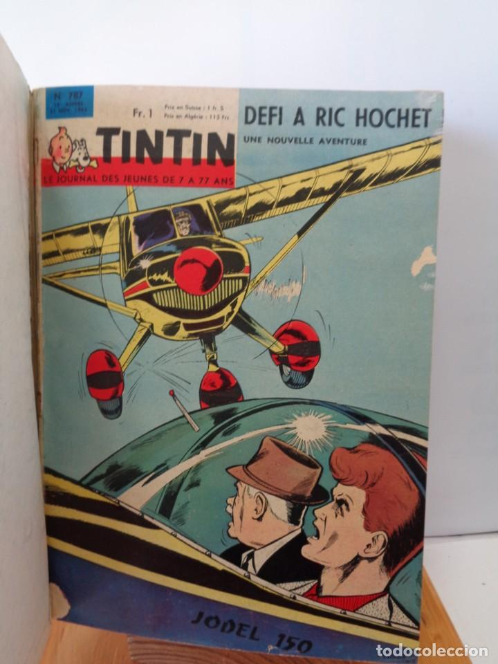 Tebeos: ¡¡ TINTIN, RECUEIL GEANT. LE JOURNAL DES JEUNES DE 7 A 77 ANS. 1963 -64. !! - Foto 46 - 238396015