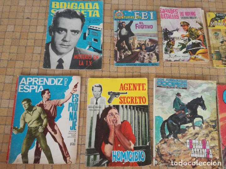 Tebeos: LOTE 10 COMICS ANTIGUOS DE GUERRA, FBI, BRIGADA, ESPIA Y OTROS DE LOS AÑOS 60 - Foto 2 - 239920865