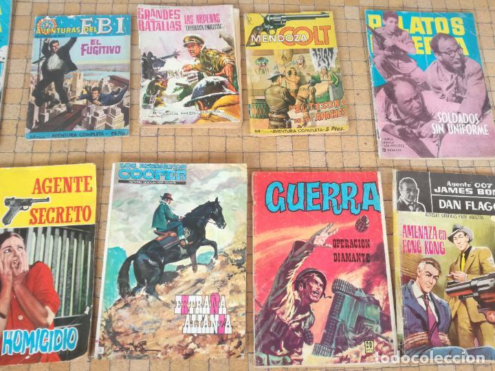 Tebeos: LOTE 10 COMICS ANTIGUOS DE GUERRA, FBI, BRIGADA, ESPIA Y OTROS DE LOS AÑOS 60 - Foto 3 - 239920865