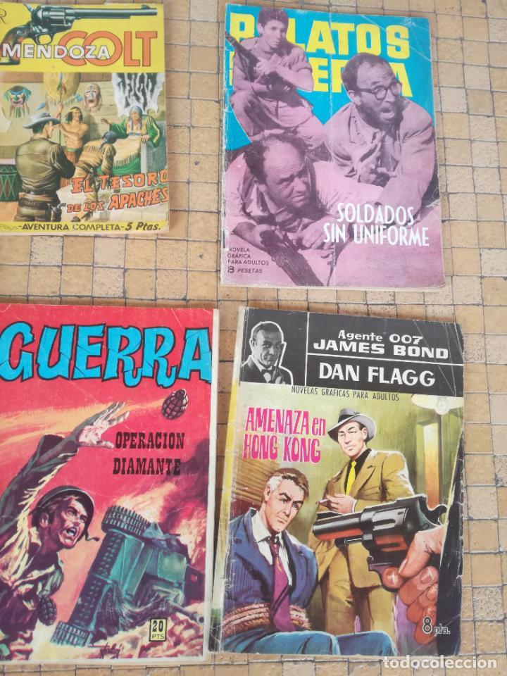 Tebeos: LOTE 10 COMICS ANTIGUOS DE GUERRA, FBI, BRIGADA, ESPIA Y OTROS DE LOS AÑOS 60 - Foto 4 - 239920865