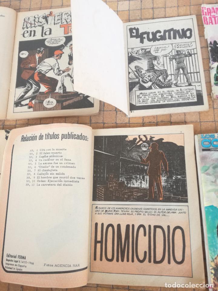 Tebeos: LOTE 10 COMICS ANTIGUOS DE GUERRA, FBI, BRIGADA, ESPIA Y OTROS DE LOS AÑOS 60 - Foto 7 - 239920865
