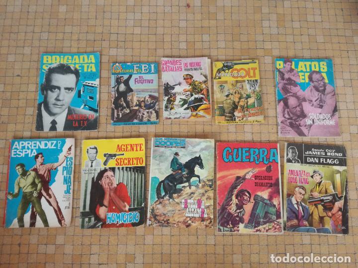 LOTE 10 COMICS ANTIGUOS DE GUERRA, FBI, BRIGADA, ESPIA Y OTROS DE LOS AÑOS 60 (Tebeos y Comics - Tebeos Pequeños Lotes de Conjunto)