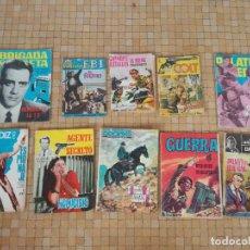 Tebeos: LOTE 10 COMICS ANTIGUOS DE GUERRA, FBI, BRIGADA, ESPIA Y OTROS DE LOS AÑOS 60. Lote 239920865