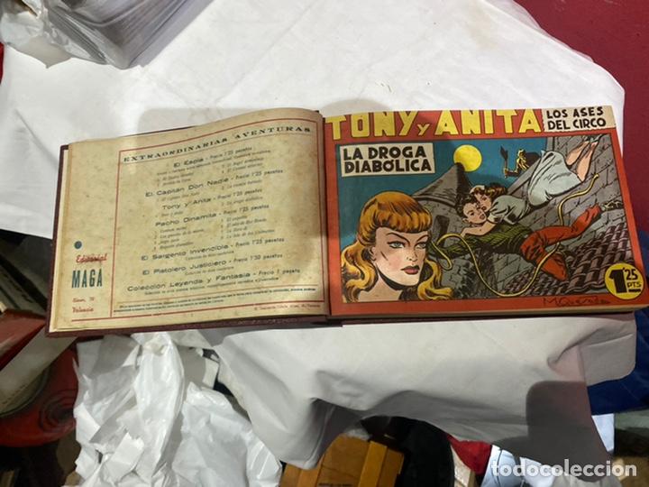 Tebeos: Tony y Anita, Año 1951 . Colección completa de 59 ejemplares encuadernados de 1a 59 . Ver fotos . - Foto 4 - 243230475