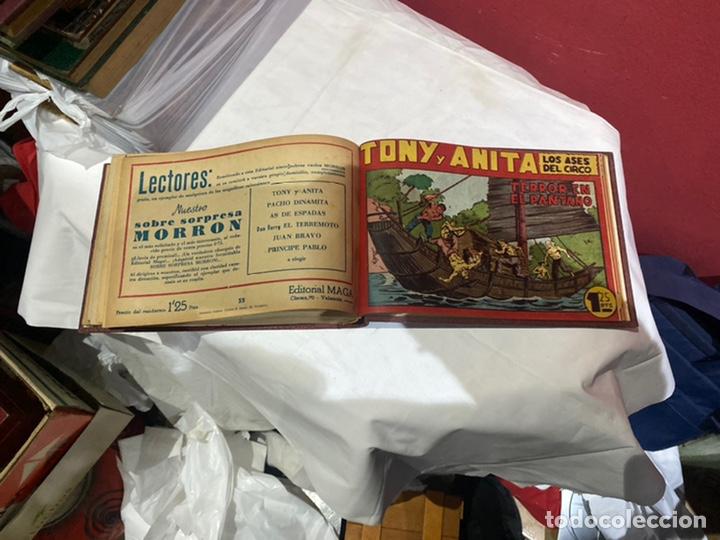 Tebeos: Tony y Anita, Año 1951 . Colección completa de 59 ejemplares encuadernados de 1a 59 . Ver fotos . - Foto 16 - 243230475