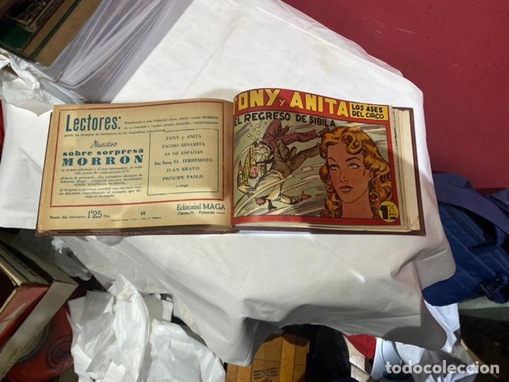 Tebeos: Tony y Anita, Año 1951 . Colección completa de 59 ejemplares encuadernados de 1a 59 . Ver fotos . - Foto 17 - 243230475