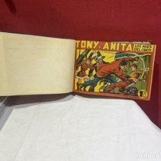 Tebeos: TONY Y ANITA, AÑO 1951 . COLECCIÓN COMPLETA DE 59 EJEMPLARES ENCUADERNADOS DE 1A 59 . VER FOTOS .. Lote 243230475