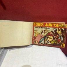 Tebeos: TONY Y ANITA, AÑO 50 . COLECCIÓN COMPLETA DE 57 EJEMPLARES ENCUADERNADOS DE 60 A 117 . VER FOTOS. Lote 243234515