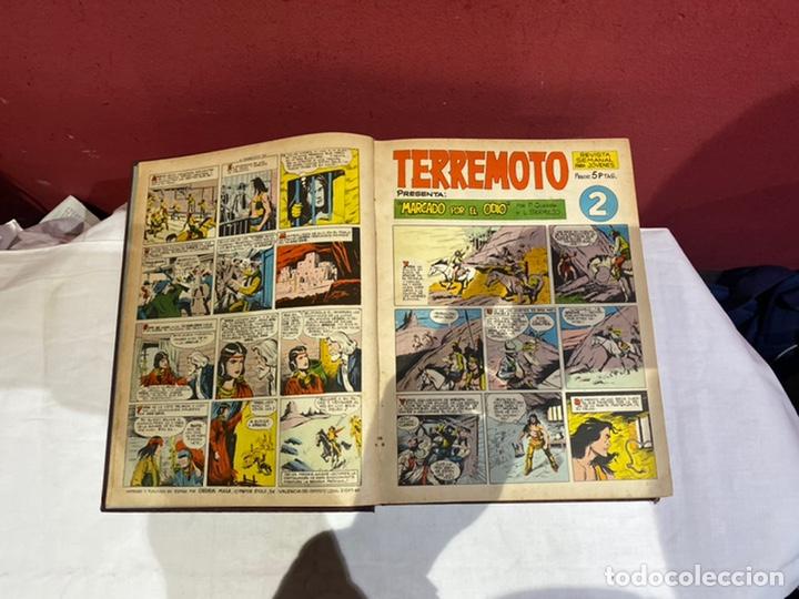 Tebeos: TERREMOTO PRESENTA APACHE Y BENGALA. Y EL CABALLERO BLANCO. 28 ejemplares encuadernados en 1 tomo . - Foto 3 - 243340195