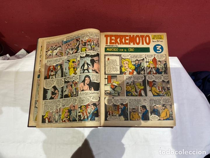 Tebeos: TERREMOTO PRESENTA APACHE Y BENGALA. Y EL CABALLERO BLANCO. 28 ejemplares encuadernados en 1 tomo . - Foto 4 - 243340195