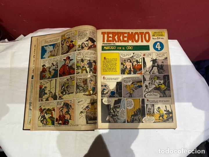 Tebeos: TERREMOTO PRESENTA APACHE Y BENGALA. Y EL CABALLERO BLANCO. 28 ejemplares encuadernados en 1 tomo . - Foto 5 - 243340195