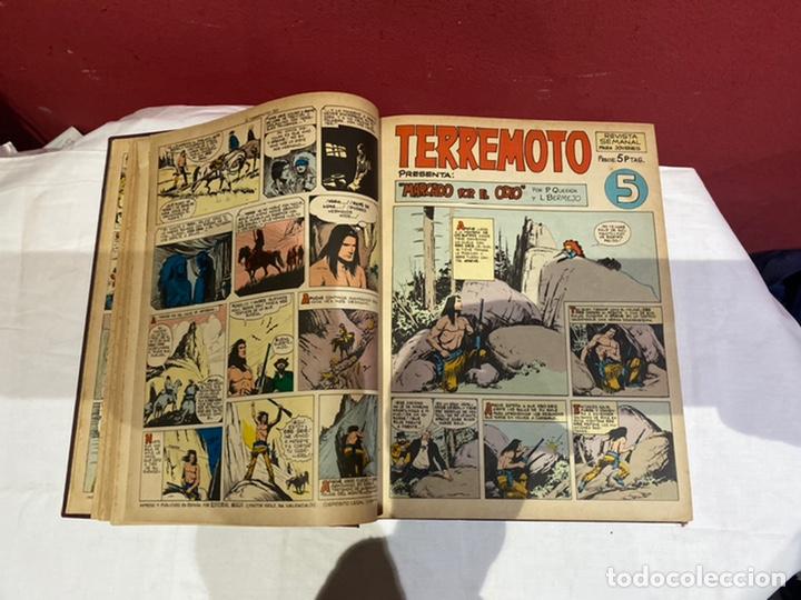 Tebeos: TERREMOTO PRESENTA APACHE Y BENGALA. Y EL CABALLERO BLANCO. 28 ejemplares encuadernados en 1 tomo . - Foto 6 - 243340195