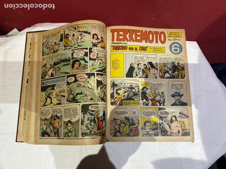 Tebeos: TERREMOTO PRESENTA APACHE Y BENGALA. Y EL CABALLERO BLANCO. 28 ejemplares encuadernados en 1 tomo . - Foto 7 - 243340195