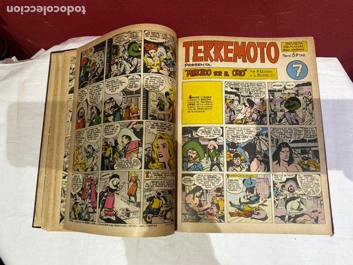 Tebeos: TERREMOTO PRESENTA APACHE Y BENGALA. Y EL CABALLERO BLANCO. 28 ejemplares encuadernados en 1 tomo . - Foto 8 - 243340195