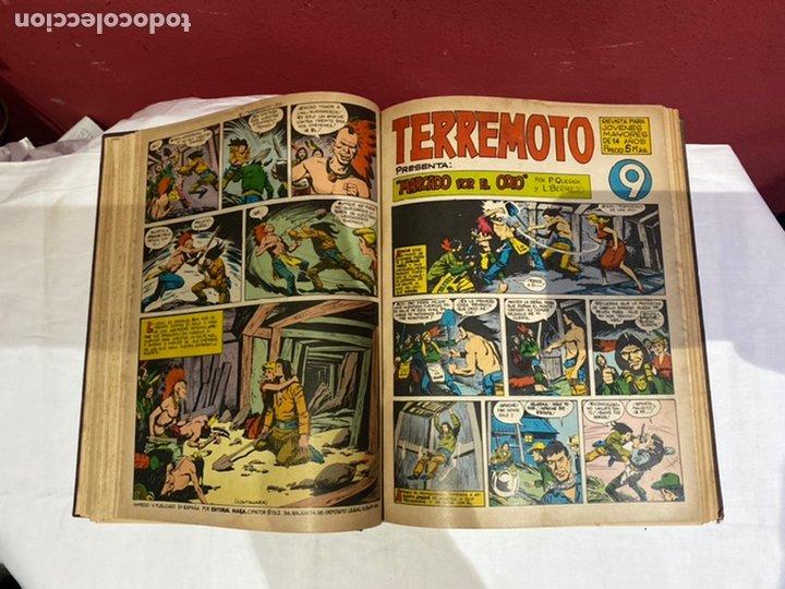 Tebeos: TERREMOTO PRESENTA APACHE Y BENGALA. Y EL CABALLERO BLANCO. 28 ejemplares encuadernados en 1 tomo . - Foto 10 - 243340195