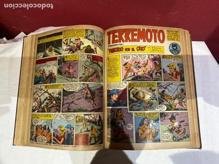 Tebeos: TERREMOTO PRESENTA APACHE Y BENGALA. Y EL CABALLERO BLANCO. 28 ejemplares encuadernados en 1 tomo . - Foto 12 - 243340195