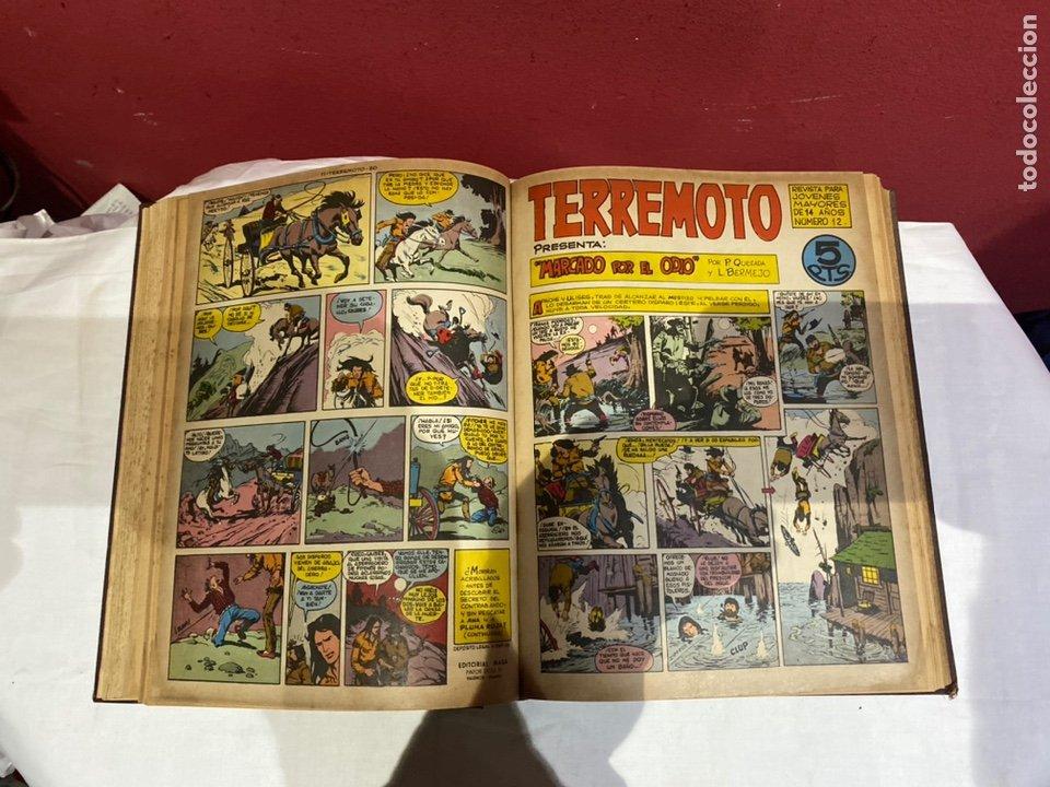 Tebeos: TERREMOTO PRESENTA APACHE Y BENGALA. Y EL CABALLERO BLANCO. 28 ejemplares encuadernados en 1 tomo . - Foto 13 - 243340195