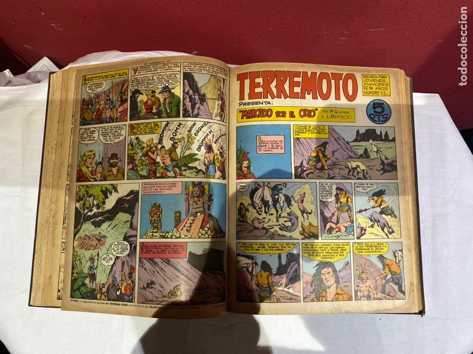 Tebeos: TERREMOTO PRESENTA APACHE Y BENGALA. Y EL CABALLERO BLANCO. 28 ejemplares encuadernados en 1 tomo . - Foto 14 - 243340195