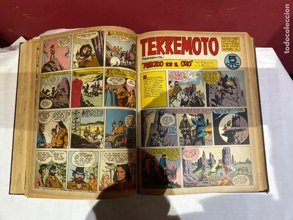 Tebeos: TERREMOTO PRESENTA APACHE Y BENGALA. Y EL CABALLERO BLANCO. 28 ejemplares encuadernados en 1 tomo . - Foto 15 - 243340195