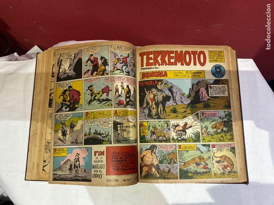 Tebeos: TERREMOTO PRESENTA APACHE Y BENGALA. Y EL CABALLERO BLANCO. 28 ejemplares encuadernados en 1 tomo . - Foto 16 - 243340195
