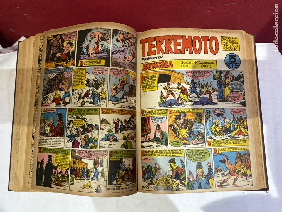 Tebeos: TERREMOTO PRESENTA APACHE Y BENGALA. Y EL CABALLERO BLANCO. 28 ejemplares encuadernados en 1 tomo . - Foto 19 - 243340195