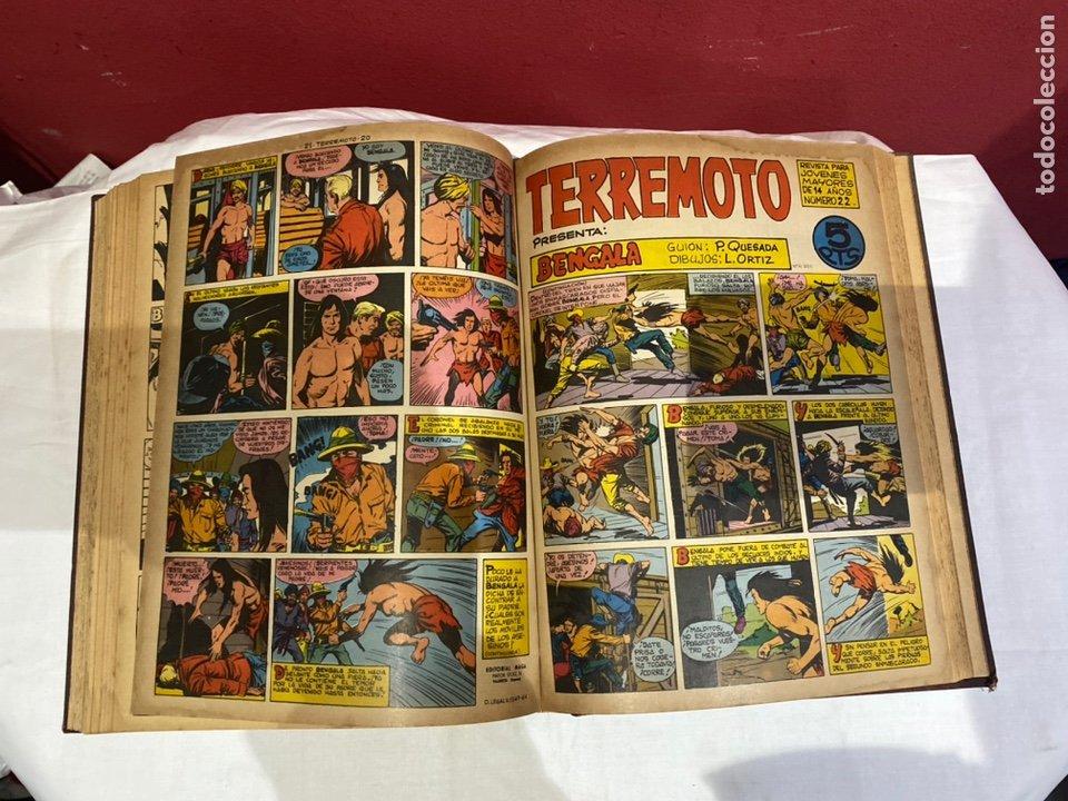 Tebeos: TERREMOTO PRESENTA APACHE Y BENGALA. Y EL CABALLERO BLANCO. 28 ejemplares encuadernados en 1 tomo . - Foto 23 - 243340195
