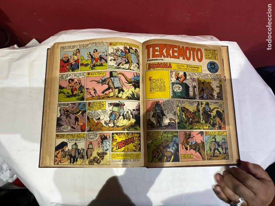 Tebeos: TERREMOTO PRESENTA APACHE Y BENGALA. Y EL CABALLERO BLANCO. 28 ejemplares encuadernados en 1 tomo . - Foto 29 - 243340195