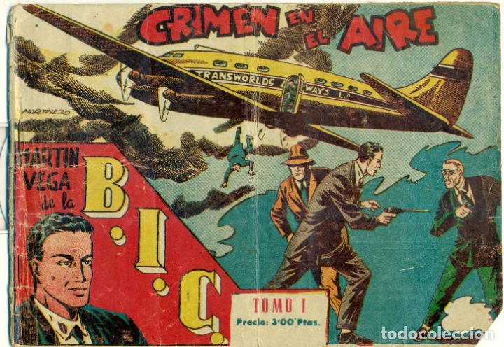 MARTIN VEGA DE LA BIC DE EXCLUSIVAS RICART 1.955 ORIGINAL Y COMPLETA 9 NUMEROS. (Tebeos y Comics - Tebeos Colecciones y Lotes Avanzados)