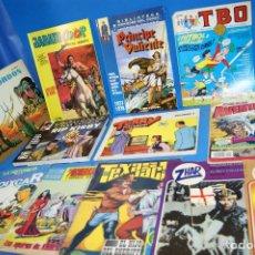 Tebeos: LOTE 12 COMICS TEBEOS ZHAR + EL AGUILUCHO + BOIXCAR + TBO + TEXAS JACK + EL PRINCIPE VALIENTE Y MAS. Lote 243932765