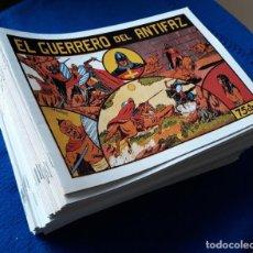 Tebeos: EL GUERRERO DEL ANTIFAZ: LOTE CON LOS 101 PRIMEROS NÚMEROS - VALENCIANA - REEDICIÓN. Lote 243965015