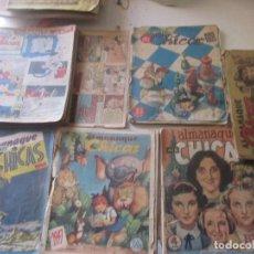 Livros de Banda Desenhada: MIS CHICAS -LOTE DE 13 + 5 ALMANAQUES EN MAL ESTADO. VER FOTOS. Lote 244427125