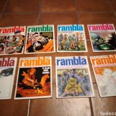 Tebeos: LOTE COMICS 1 AL 8 RAMBLA. Lote 244593225