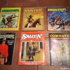 Tebeos: LOTE COMICS OESTE HUNTER SALOON Y BELICO COMBATE. Lote 244712135