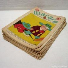 Tebeos: LOTE MACACO-1928-1929-1930-Nº 19-43-46-64-66-70-71-74-106-113-RECORTABLES-EJERCITO-PORTADAS-208 PÁGS. Lote 248592520