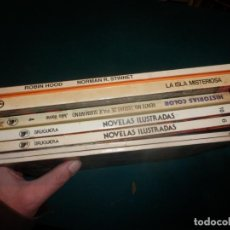 Tebeos: LOTE 7 CÓMICS (NOVELAS ILUSTRADAS + SUPER JOYAS + HISTORIAS COLOR + JULIO VERNE...) VER FOTOS. Lote 253604565