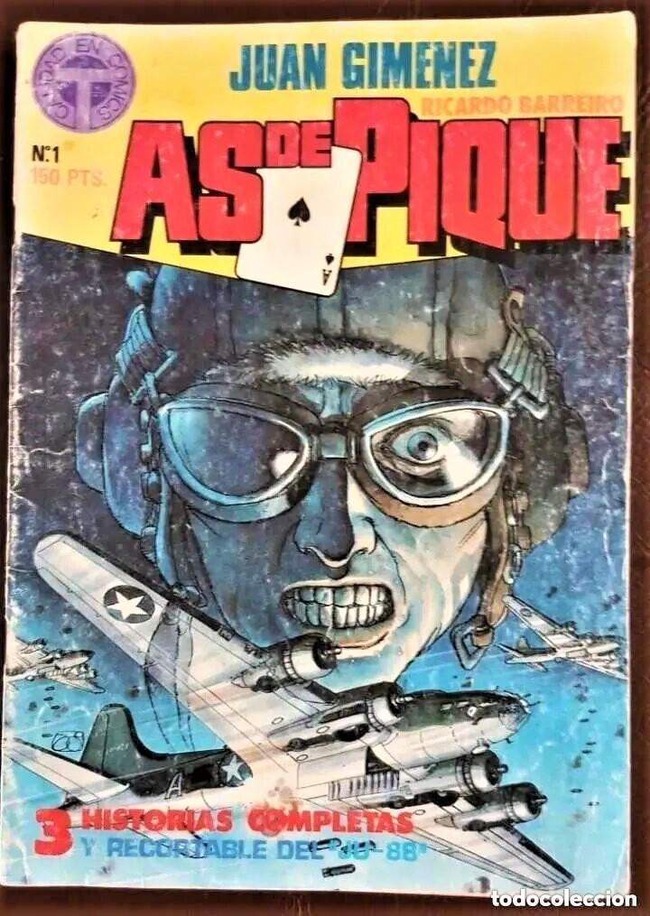AS DE PIQUE Nº 1 (1988) BARREIRO/GIMENEZ (Tebeos y Comics - Tebeos Colecciones y Lotes Avanzados)