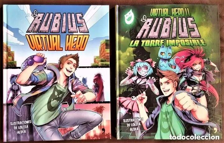 EL RUBIUS - 1, VIRTUAL HERO (FIRMADO DE SU PUÑO Y LETRA) Y 2, LA TORRE IMPOSIBLE - VER FOTOS (Tebeos y Comics - Tebeos Colecciones y Lotes Avanzados)