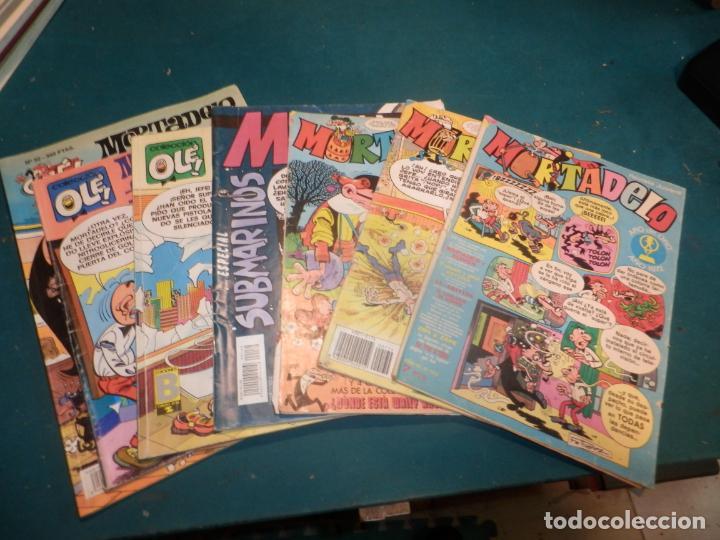 MORTADELO - LOTE 7 CÓMICS (OLÉ + ESPECIAL SUBMARINOS + Nº 123 AÑO IV + 122 + 174) VER FOTOS (Tebeos y Comics - Tebeos Pequeños Lotes de Conjunto)