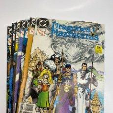 Tebeos: DRAGONES Y MAZMORRAS DC LOTE COMPLETO CONSECUTIVO DEL Nº1 AL Nº7 (1988/1989). Lote 260387220