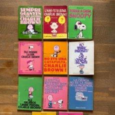 BDs: LOTE 11 COMICS CHARLIE BROWN SNOOPY PEANUTS SCHULZ EDICIONS 62 CATALAN. Lote 260539045