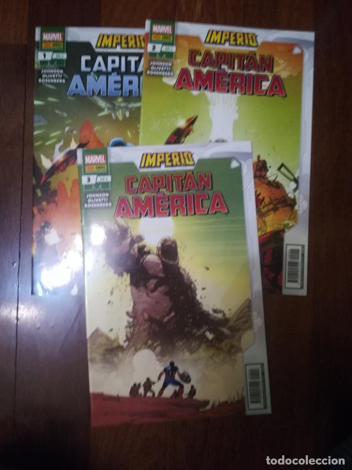 CAPITAN AMERICA IMPERIO COLECCIÓN COMPLETA (3 NUMEROS) (Tebeos y Comics - Tebeos Colecciones y Lotes Avanzados)