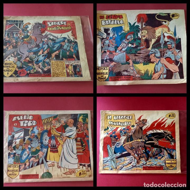 HEROES Y MARAVILLAS DEL MUNDO-ALEJANDRO MAGNO - COLECCION COMPLETA ORIGINAL - (Tebeos y Comics - Tebeos Colecciones y Lotes Avanzados)