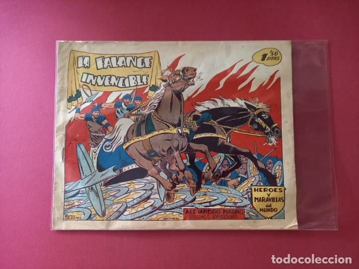 Tebeos: HEROES Y MARAVILLAS DEL MUNDO-ALEJANDRO MAGNO - COLECCION COMPLETA ORIGINAL - - Foto 5 - 261915955