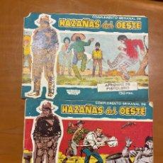 Tebeos: HAZAÑAS DEL OESTE SERIE AZUL Nº13 Y 20 ULTIMO DE LA COLECCION SE VENDEN SUELTOS. Lote 262756025