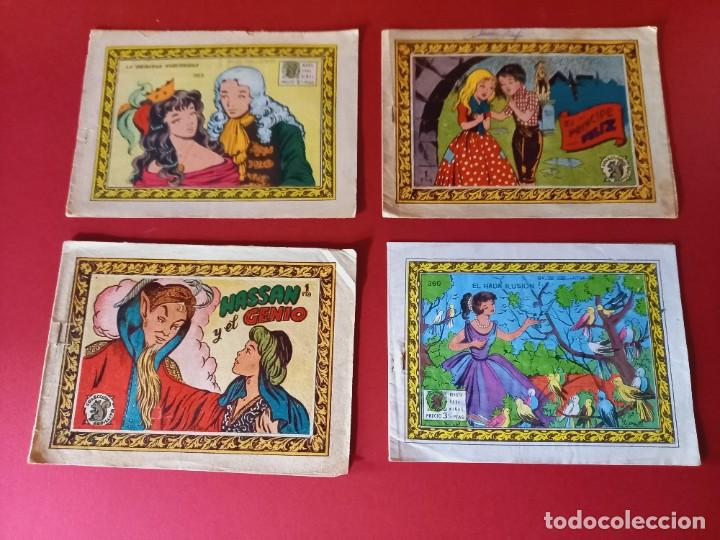 LOTE DE 4 TEBEOS DE ANTIGUAS COLECCIONES (Tebeos y Comics - Tebeos Pequeños Lotes de Conjunto)